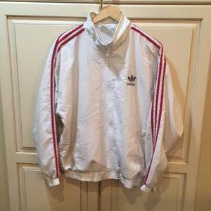 Vintage 80s 90s adidas windbreaker jacket m